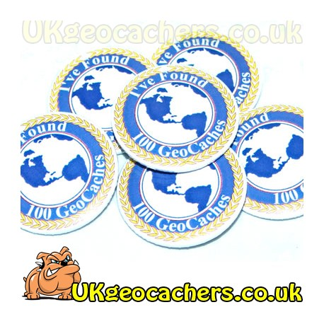 100 Finds 44mm GeoButton Badge