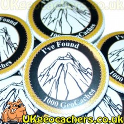 1000 Finds 44mm GeoButton Badge