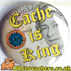 Cache is King 44mm Button Badge