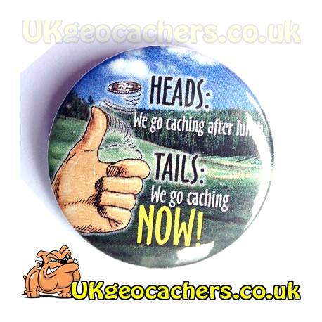 Heads or Tails 44mm Button Badge