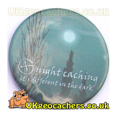 Night Geocaching 44mm Button Badge