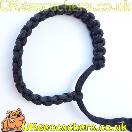 Mad Max Style Paracord Bracelet - Black