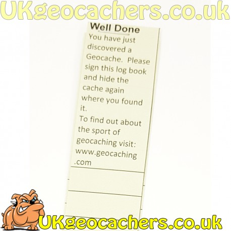 image about Geocache Log Strips Printable identify Logbooks - UKgeocachers