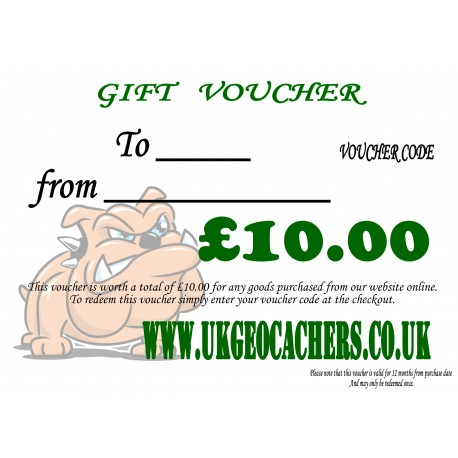 Gift Voucher - £10.00 Value