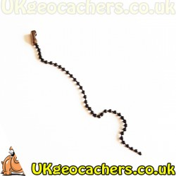 Black Plated Travel Bug Chain 6 Inches