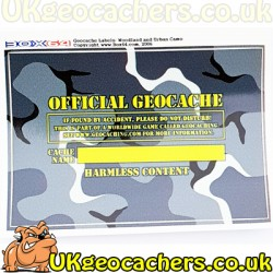 Urban Camo Medium Cache Label