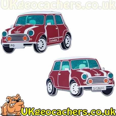 Classic Mini Cooper Geocoin - Red