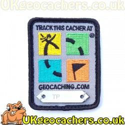 Four Colour Geocaching Logo Trackable Patch