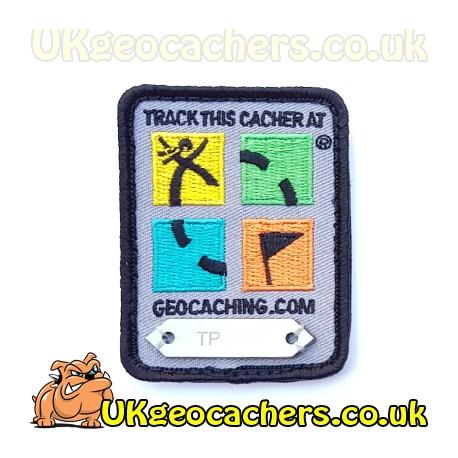 Four Colour Geocaching Logo Trackable Patch