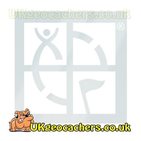 """Geoaching Logo Static Cling 5"""" x 5"""" - White"""