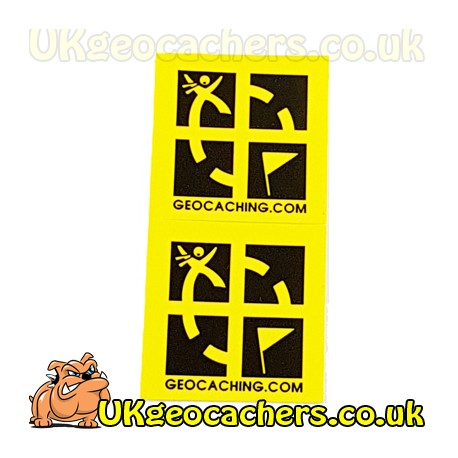 "Yellow 3/4"" x 3/4"" Mini Sticker 2 Pack"