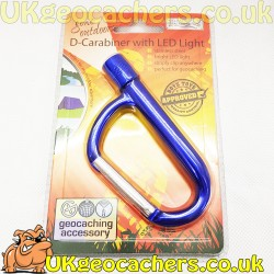 D Carabiner with LED Light