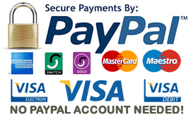 Pay by PayPal or with your cards