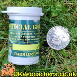 Waterproof Micro Cache with sticker