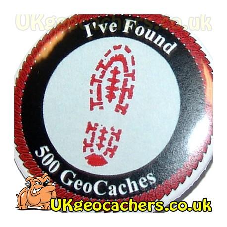 500 Finds 44mm Geobutton Badge