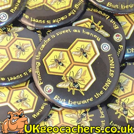 Beware the DNF Sting 44mm Button Badge