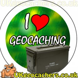 I Love Geocaching 25mm Button Badge