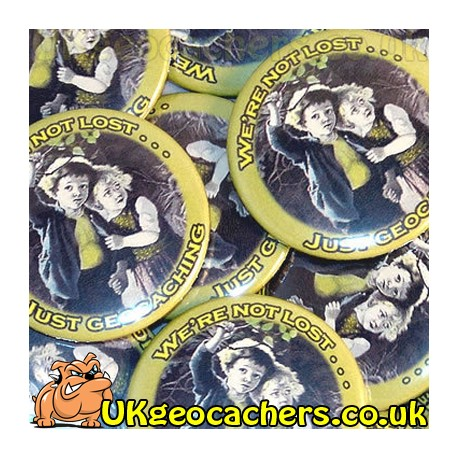 Were Not Lost 44mm Button Badge