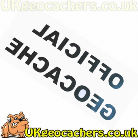 Official Geocache Decal Sticker - Large