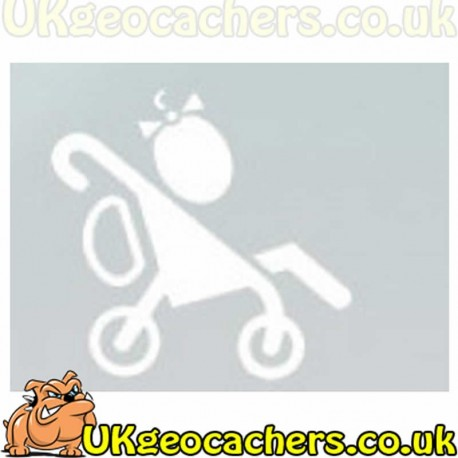 Girl in Buggy Geocaching Decal