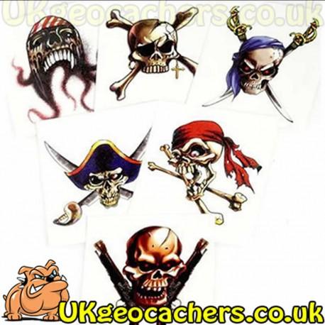 Large Pirate Tattoo - Temporary