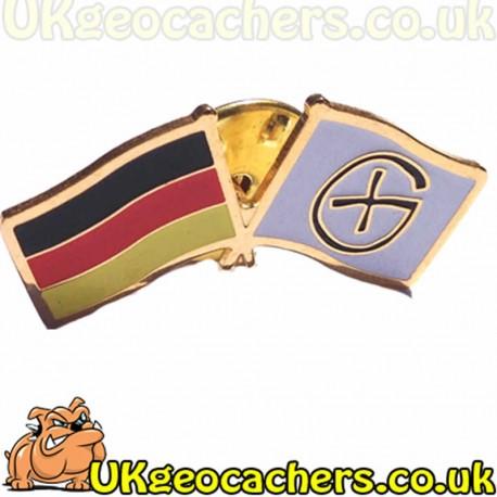 Germany Flag Geocaching Pinbadge