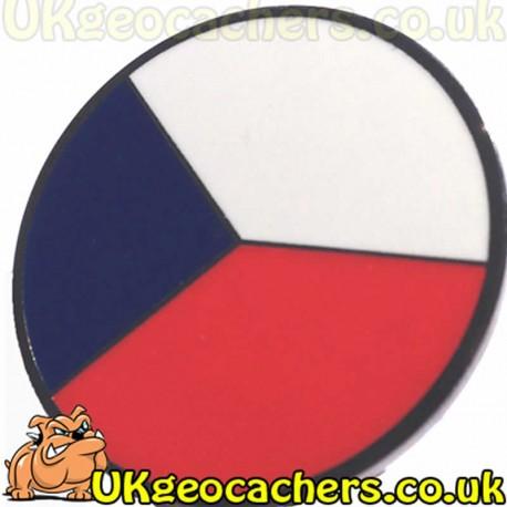 Round Czech Republic Pin