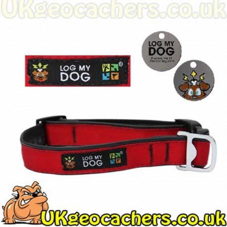 Log My Dog Collar - Red