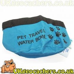 Foldable Dog Water Bowl - Blue