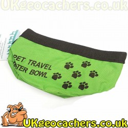 Foldable Dog Water Bowl - Green