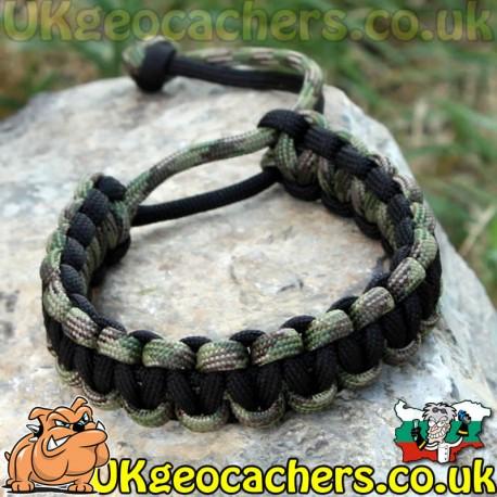 Mad Max Style Paracord Bracelet - DigiCam/Black