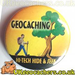 High Tech 44mm Button Badge