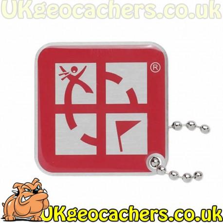Geocaching Logo Travel Tag - Pink