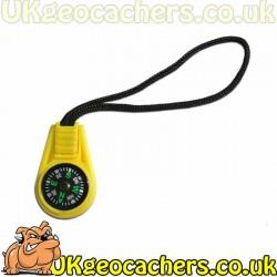 Mini Compass Zip Pull