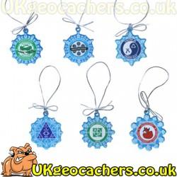 Trackable Snowflake Ornament Set - All 6