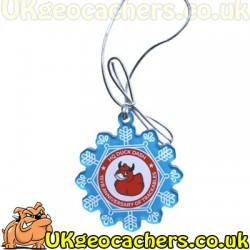 Trackable Snowflake Ornament - HQ Duck Dash