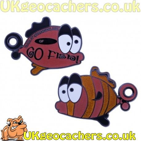 Limited Edition Go Fish Geocoin - Orange