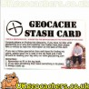 Small Geocache Stash Card