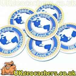100 Finds 44mm GeoButton Badge