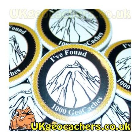 1000 Finds 44mm GeoButton Badge