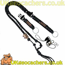 The Ultimate Trackable Lanyard - Undead/Black Reflective