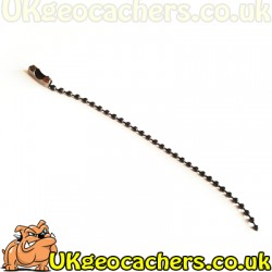Black Plated Travel Bug Chain 4 Inches