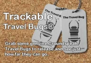 Trackable geocachine travel bugs from Groundspeak
